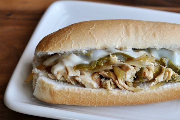 Slow-Cooker-Chicken-Philly-Sandwich