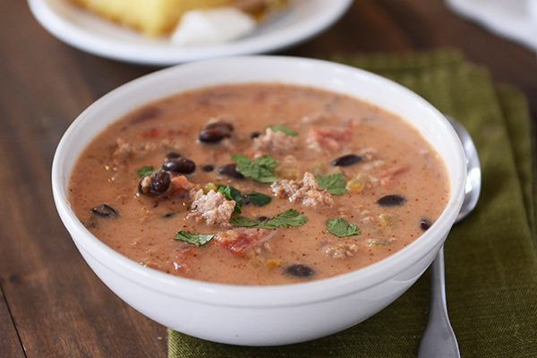 Creamy Taco Soup Recipe, Melanie Mitro, Clean Eatin