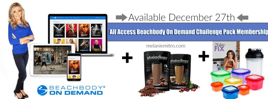 Beachbody On Demand All Access Challenge Pack, Melanie Mitro, Committed To Getting Fit, Beachbody Health Bet