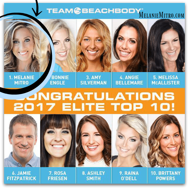 Melanie Mitro 3X Top Coach Team Beachbody, Dream Team, Elite Coach, Top Coach,