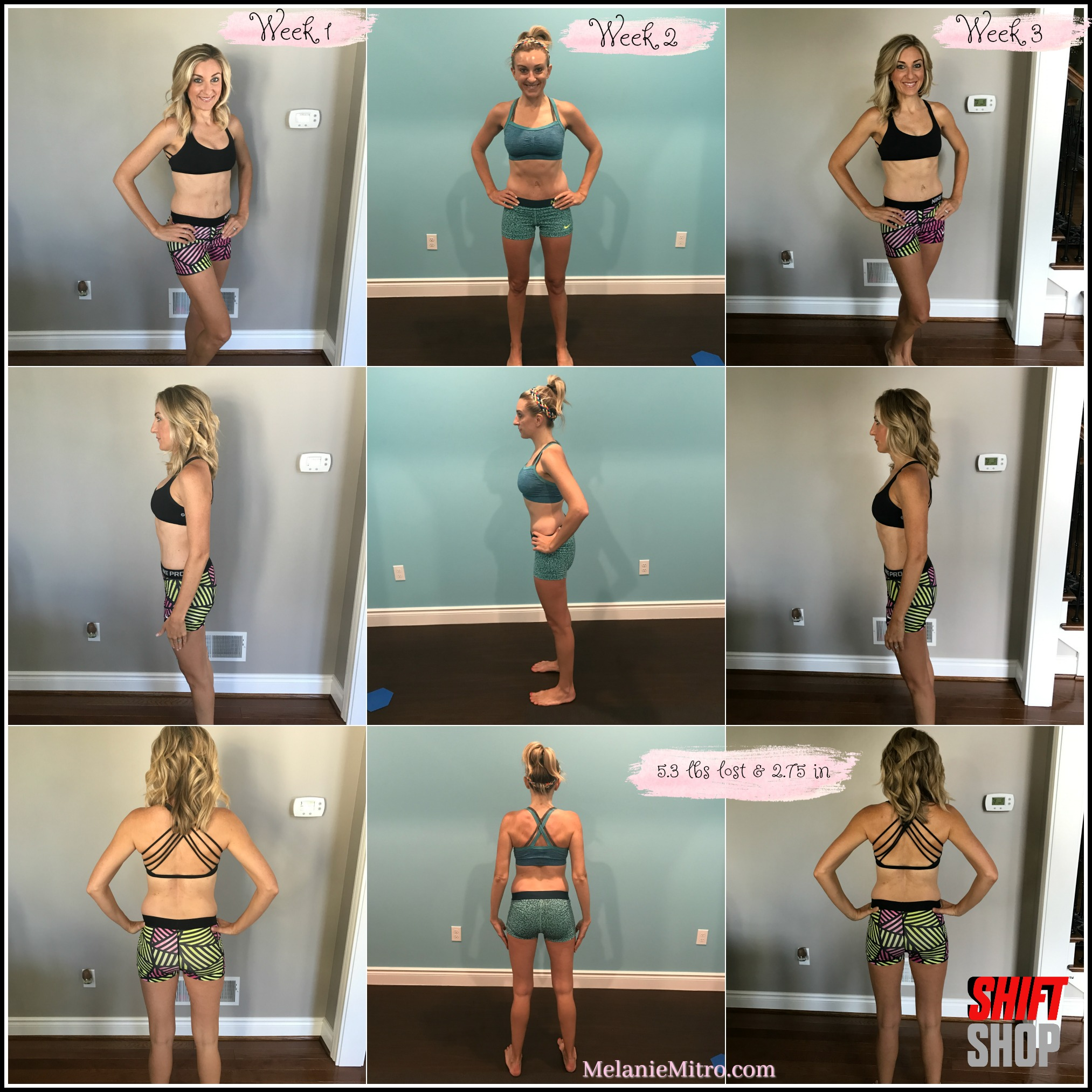 Melanie Mitro, Top Coach, Shift Shop Test Group Results, Clean Eating