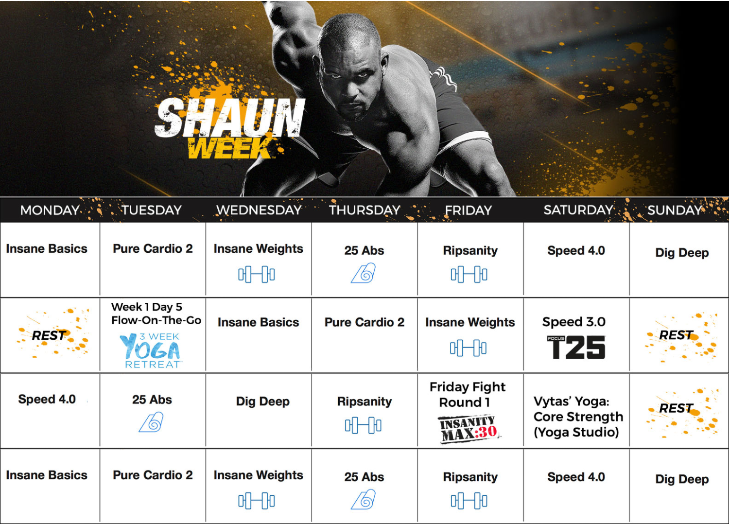 Shaun Week, 30 day calendar, Calendar, Workouts, Melanie Mitro, Top Coach, BOD, Accountability, Support