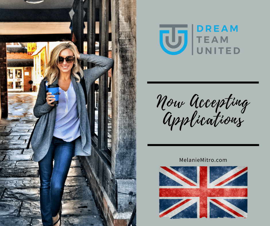 Dream Team United, Now Accepting New Coaches, Melanie Mitro, Top Coach, Pre Launch Training, Dream Team United Coaching Event