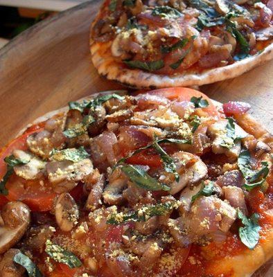 mini pita pizza