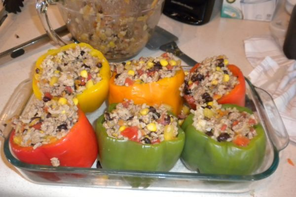 clean stuffed peppers