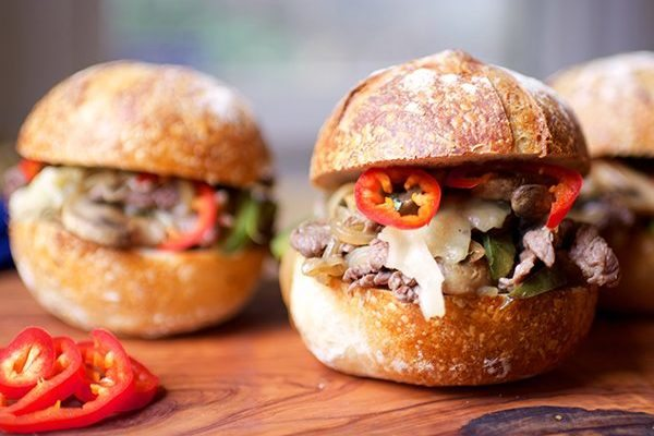 Chicken Cheesesteak Sandwiches
