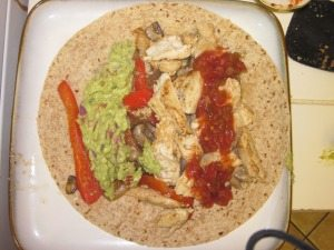chicken fajita burrito