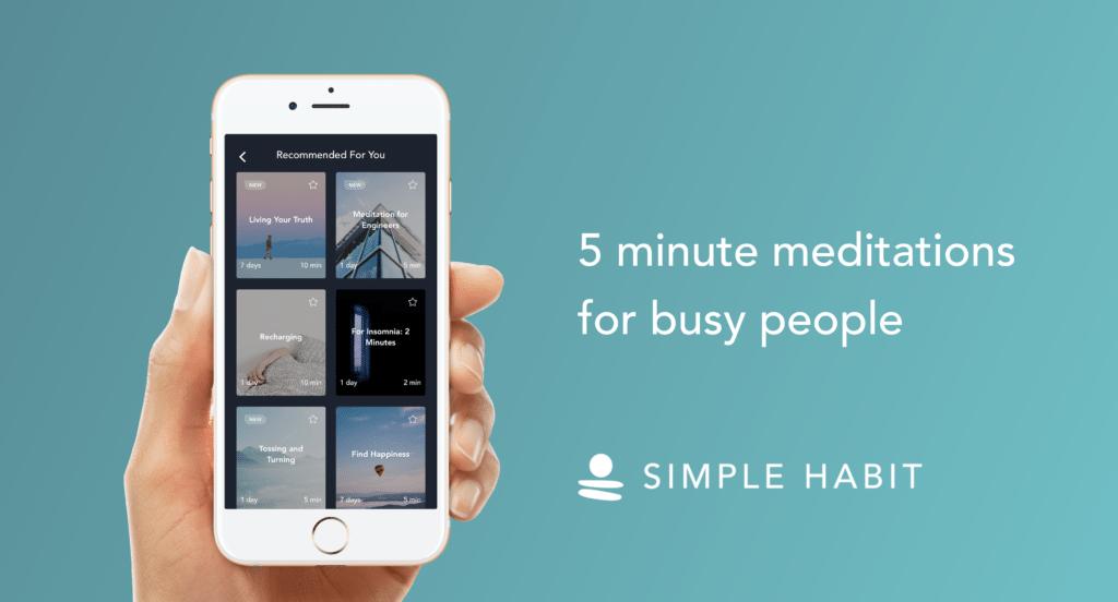 simple habits app, meditation, morning meditation