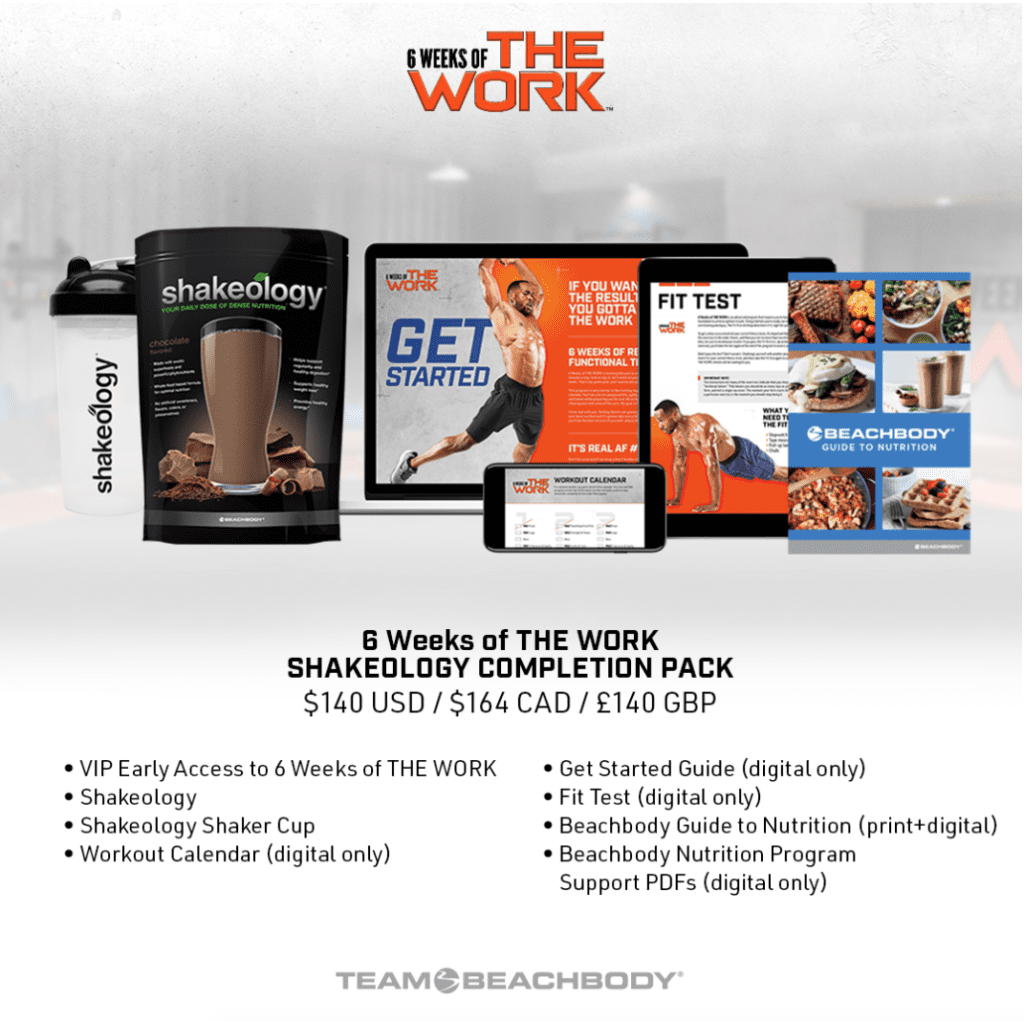 The work completion pack, shakeology, Amoila Cesar, Melanie Mitro